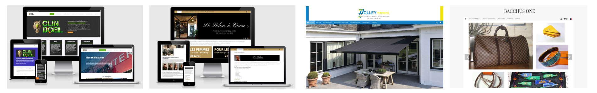 Exemples de sites internet réalisés par one bureautique