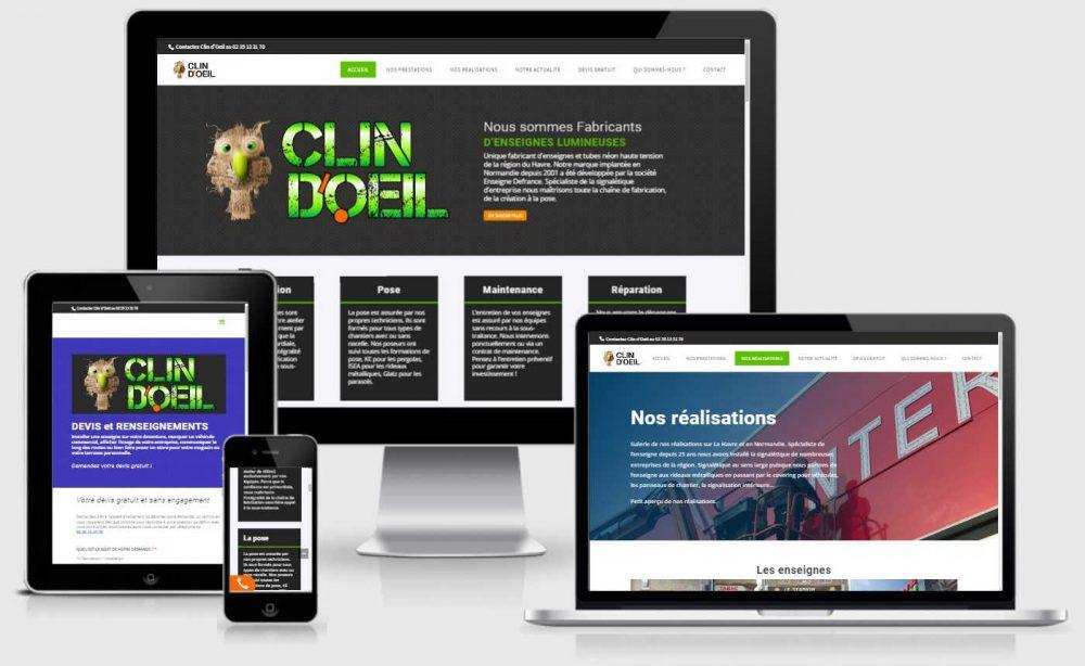 site internet clin d'oeil enseignes au havre