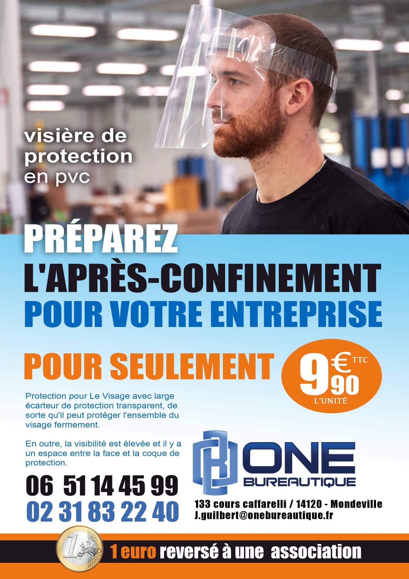 visière de protection faciale - One bureautique à CAEN 14